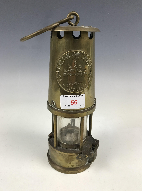 Lot 56 - An Eccles miner's lamp