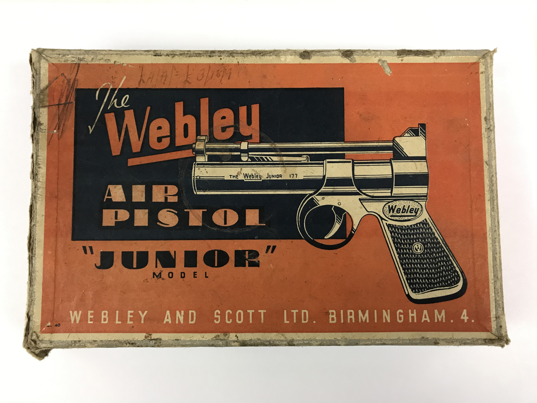 Lot 23 - A Webley Junior air pistol carton