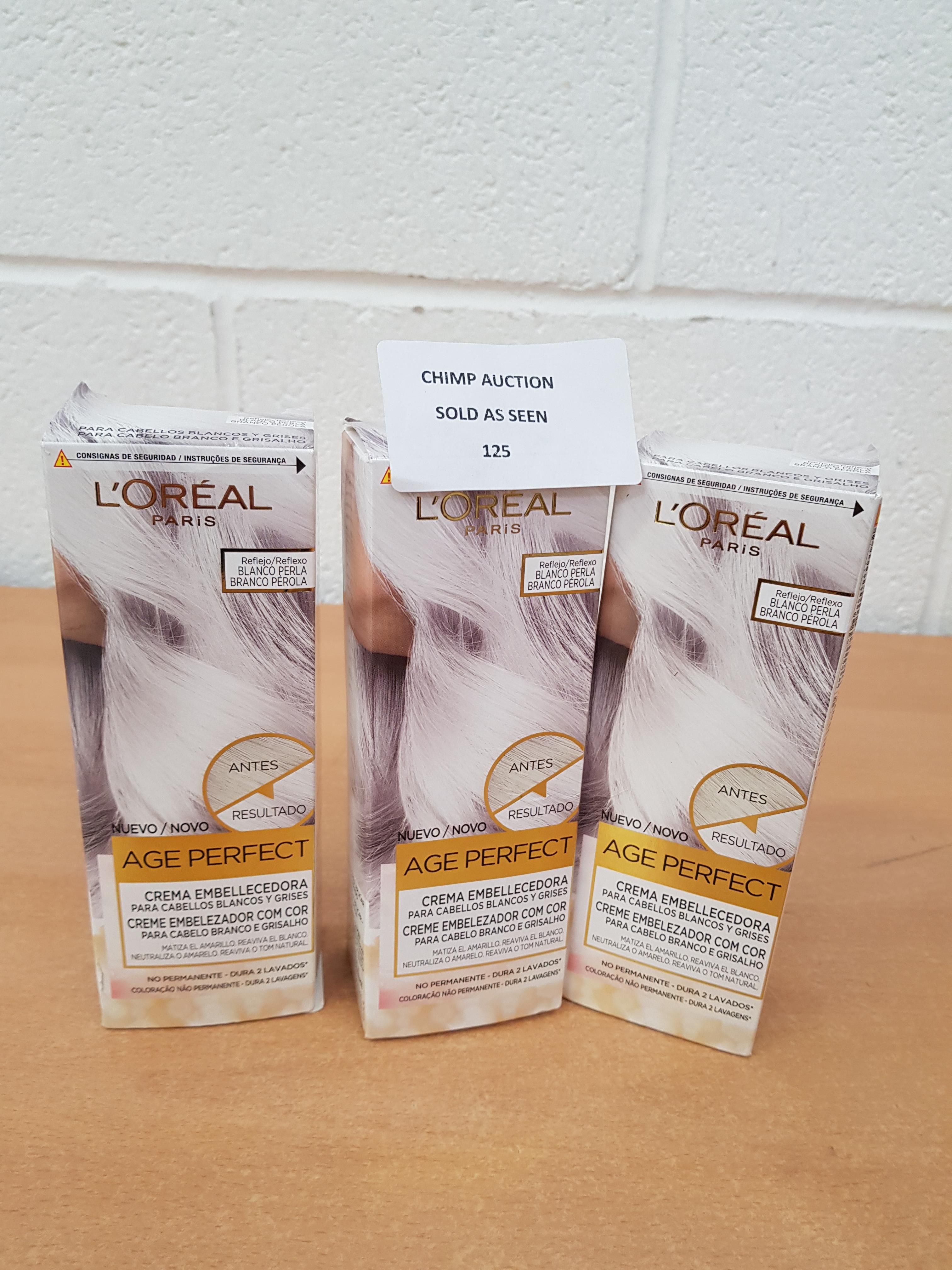 Lot 125 - 3X NEW L'Oreal Expert Professionnel / AGE PERFECT cream RRP £60