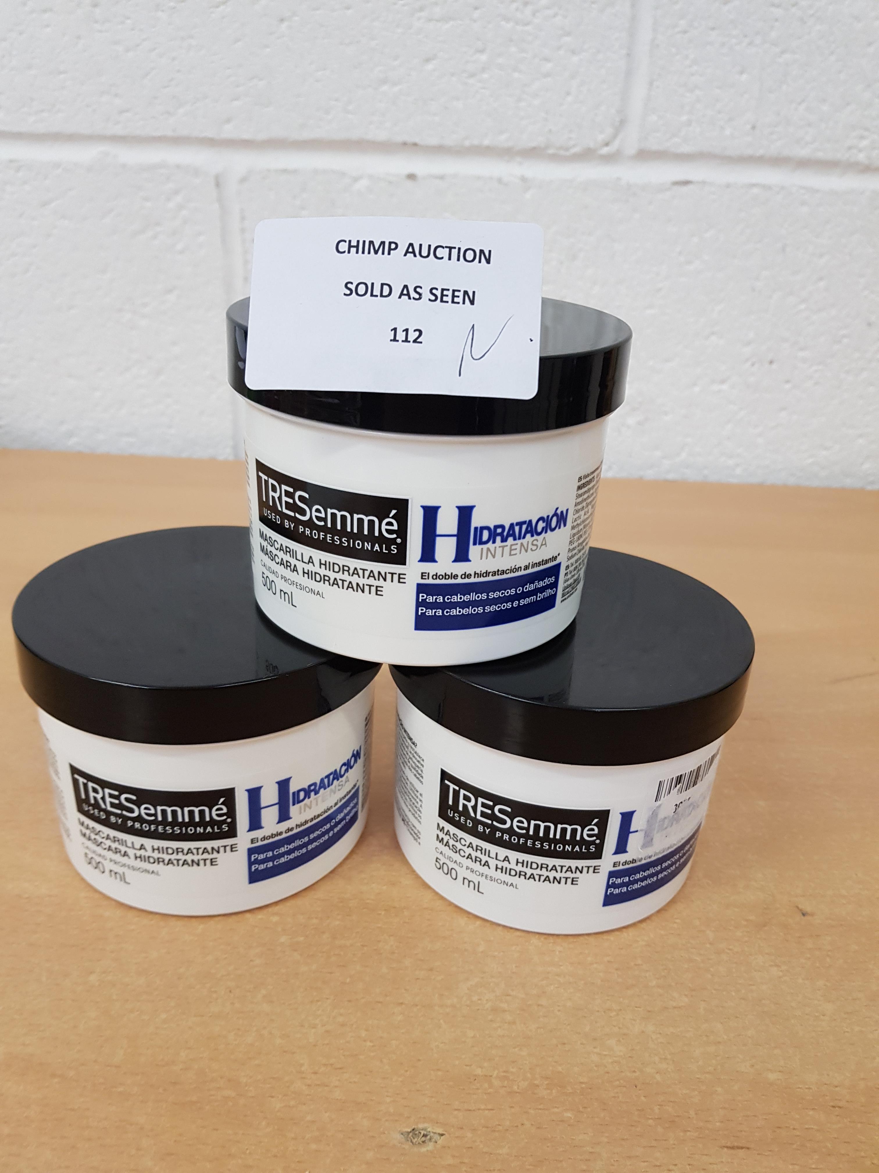 Lot 112 - 3X Brand new TRESemmé Pro Intensa Hair Repair 500ml RRP £60.