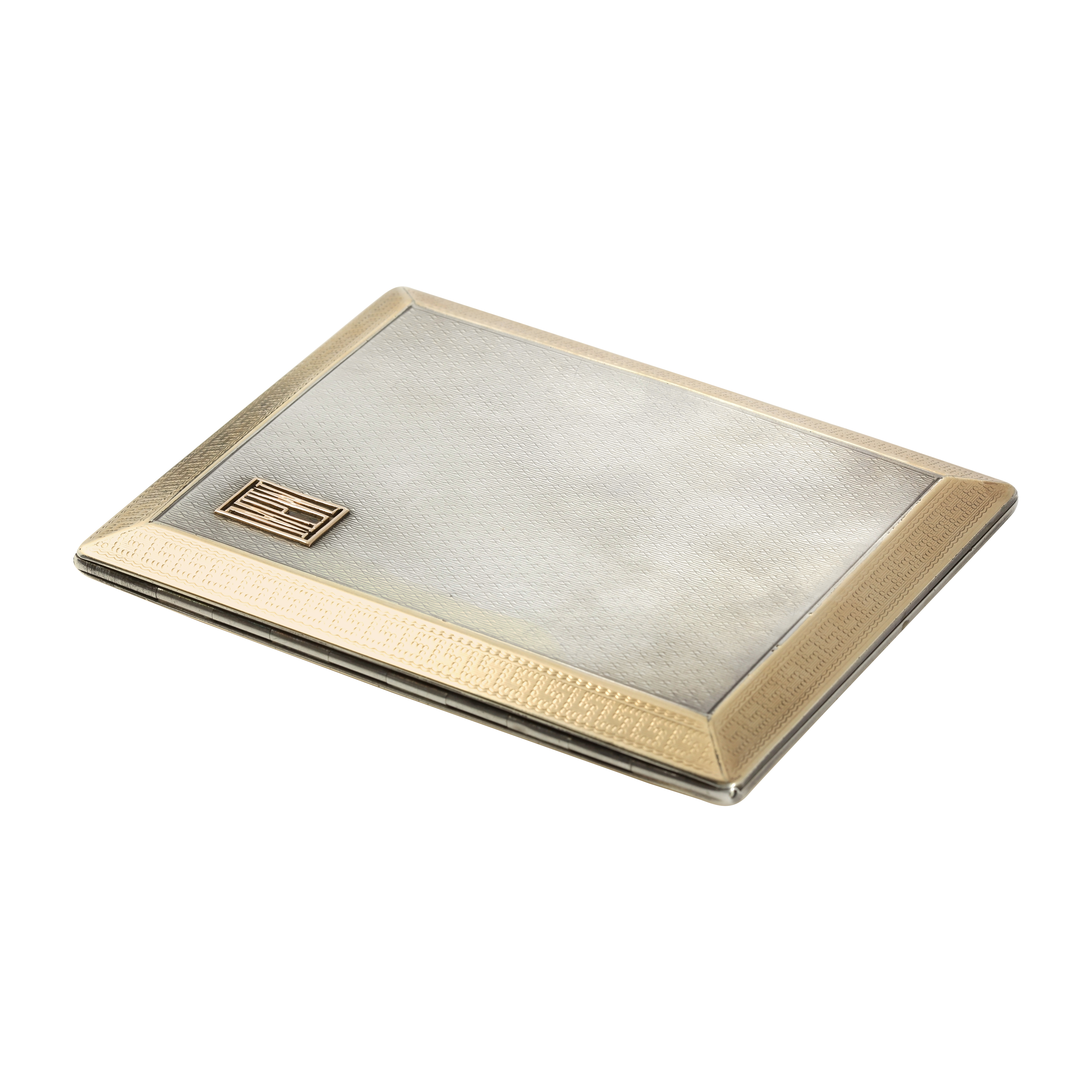 Los 98 - AN ANTIQUE SLIDING CIGARETTE CASE, ASPREY, LONDON 1933 in sterling silver and gold, of rectangular
