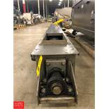 "FMC Link-Belt Screw Conveyor, 185"", with S/S 10"" Trough Auger Rigging Fee: $75"