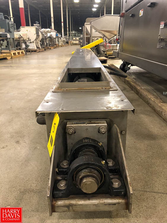 """FMC Link-Belt Screw Conveyor, 185"""", with S/S 10"""" Trough Auger Rigging Fee: $75"""