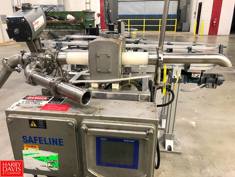 Safeline Flow Through Metal Detector, Model PL50, S/N 6732901, with Flow Serve Automatic Valve - Image 2 of 2