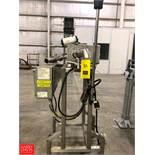Safeline Flow Through Metal Detector, Model PL50, S/N 6732901, with Flow Serve Automatic Valve