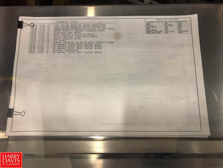 Bradman Lake Compact R Triseal Cartoner with Allen Bradley Panel View Plus 400 and Nordson Glue Pod, - Image 2 of 2