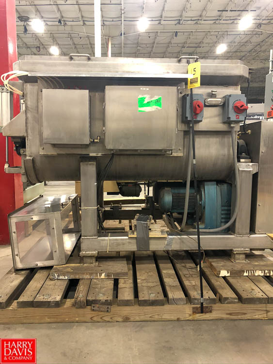 S/S Dual Paddle Blender, 5' x 3.5', with Scale on Load Cells Rigging Fee: $75