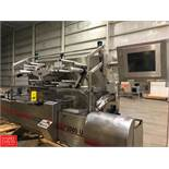 2003 Klockner Flow Wrapper P2000 V, S/N 48951661, with Infeed Conveyor and Safeline Metal Detector