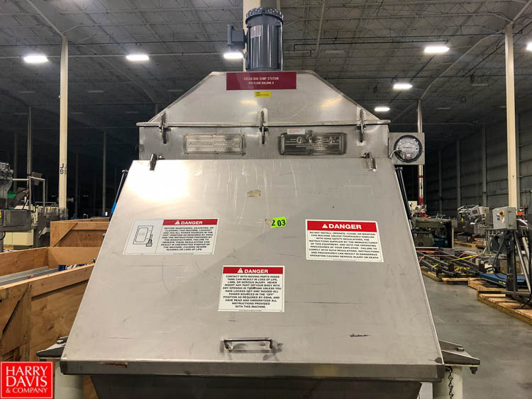 American Process Systems Hopper with Lid, Model FBD200, S/N 4409, Dump Station Rigging Fee: $75 - Image 2 of 2