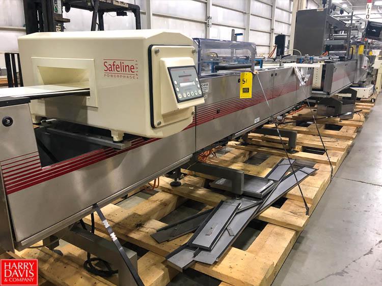 2003 Klockner Flow Wrapper P2000 V, S/N 48951661, with Infeed Conveyor and Safeline Metal Detector - Image 2 of 2