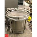 "Inline Filling Systems Accumulation Table, INC 1300, 36"" Diameter Rigging Fee: $75"