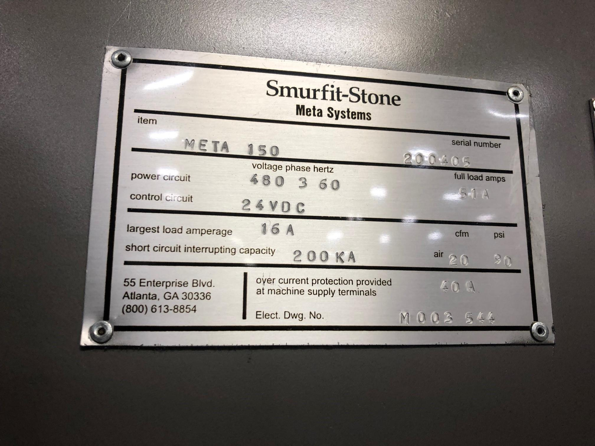 Smurfit-Stone Meta Systems Case Former, Model Meta 150, S/N 200405 Rigging Fee: $250 - Image 3 of 3