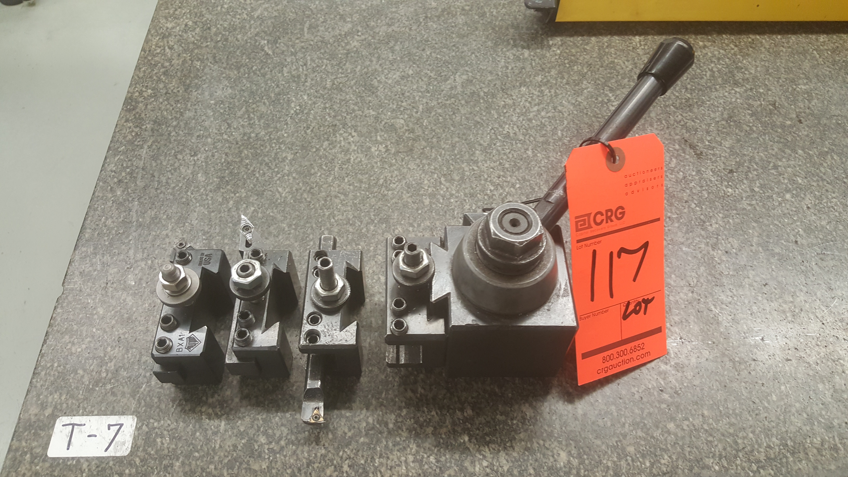 Lot 117 - Compound tool holder
