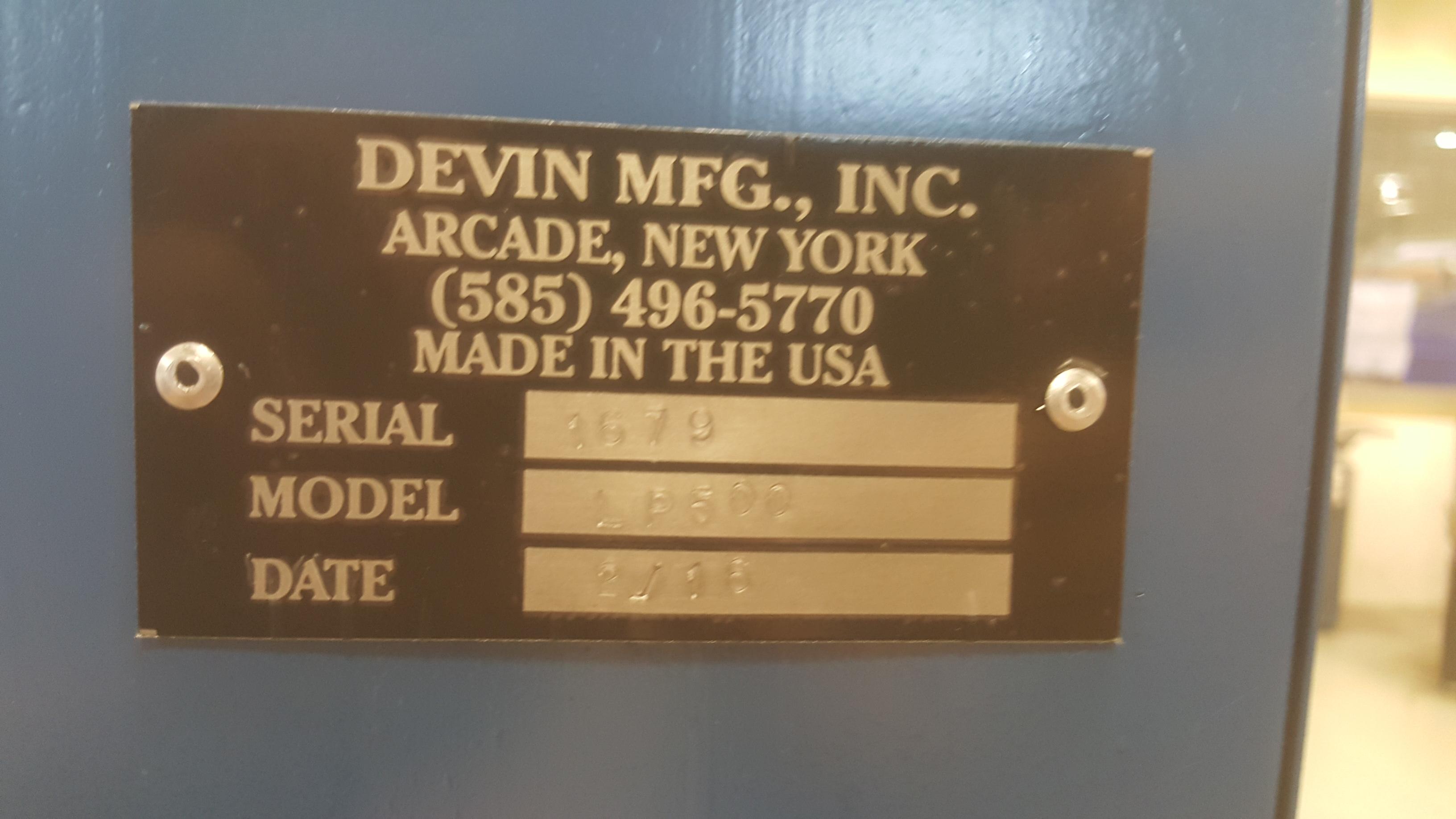 Lot 109 - DEVIN LP-500 10-ton hydraulic Arbor Press