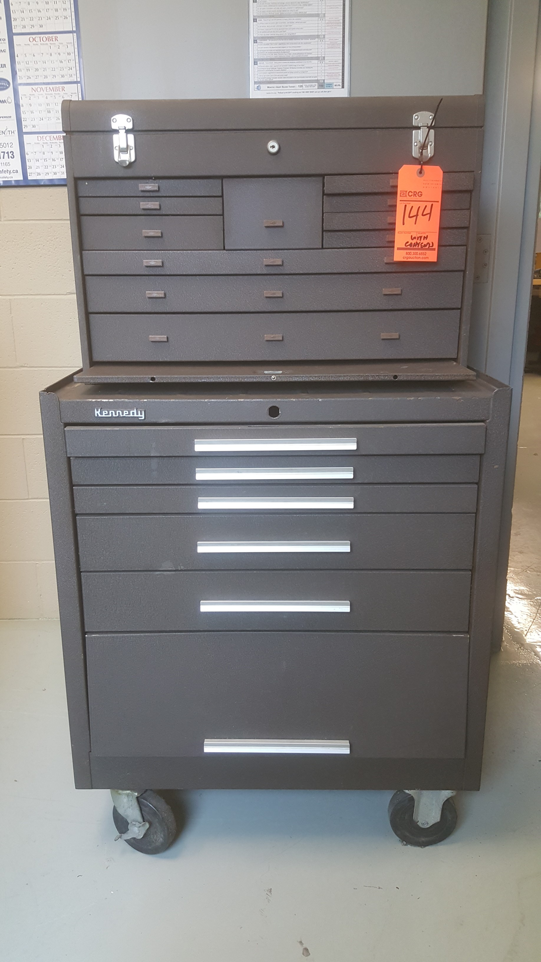 Lot 144 - Set of (2) KENNEDY tool chest and cabinets
