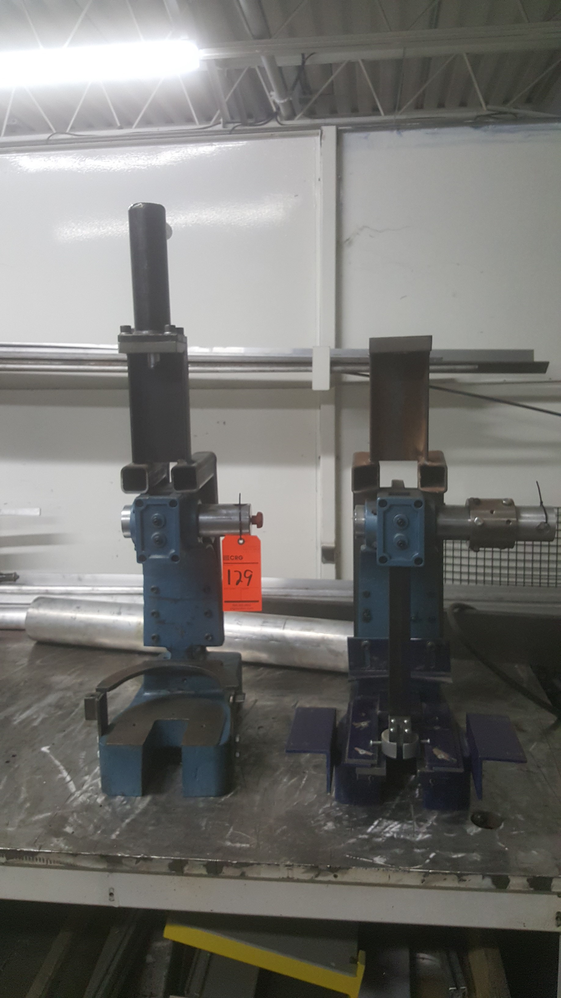 Lot 129 - (2) Arbor presses (Blue)