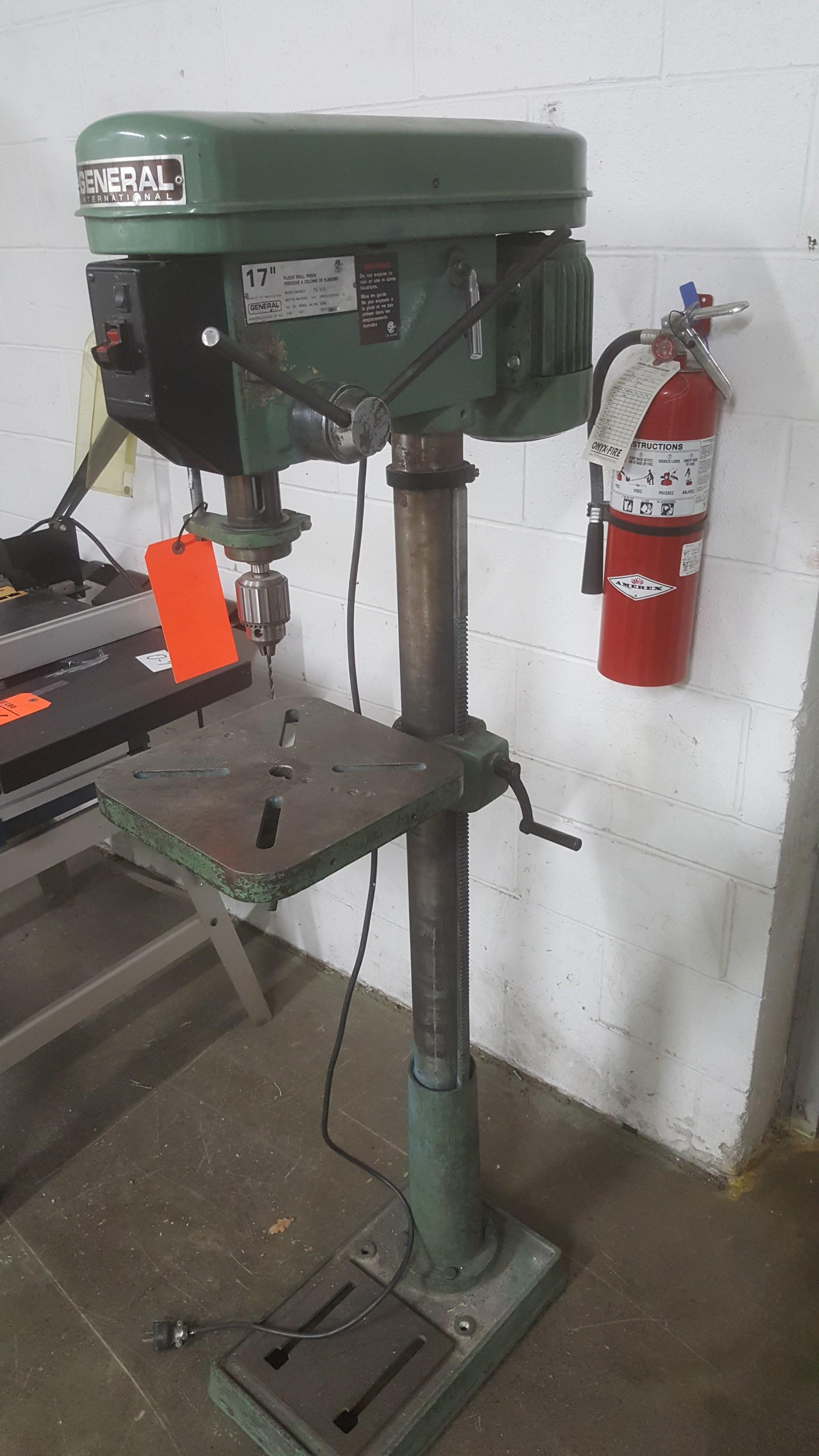"""Lot 136 - GENERAL INTERNATIONAL 17"""" floor drill press"""