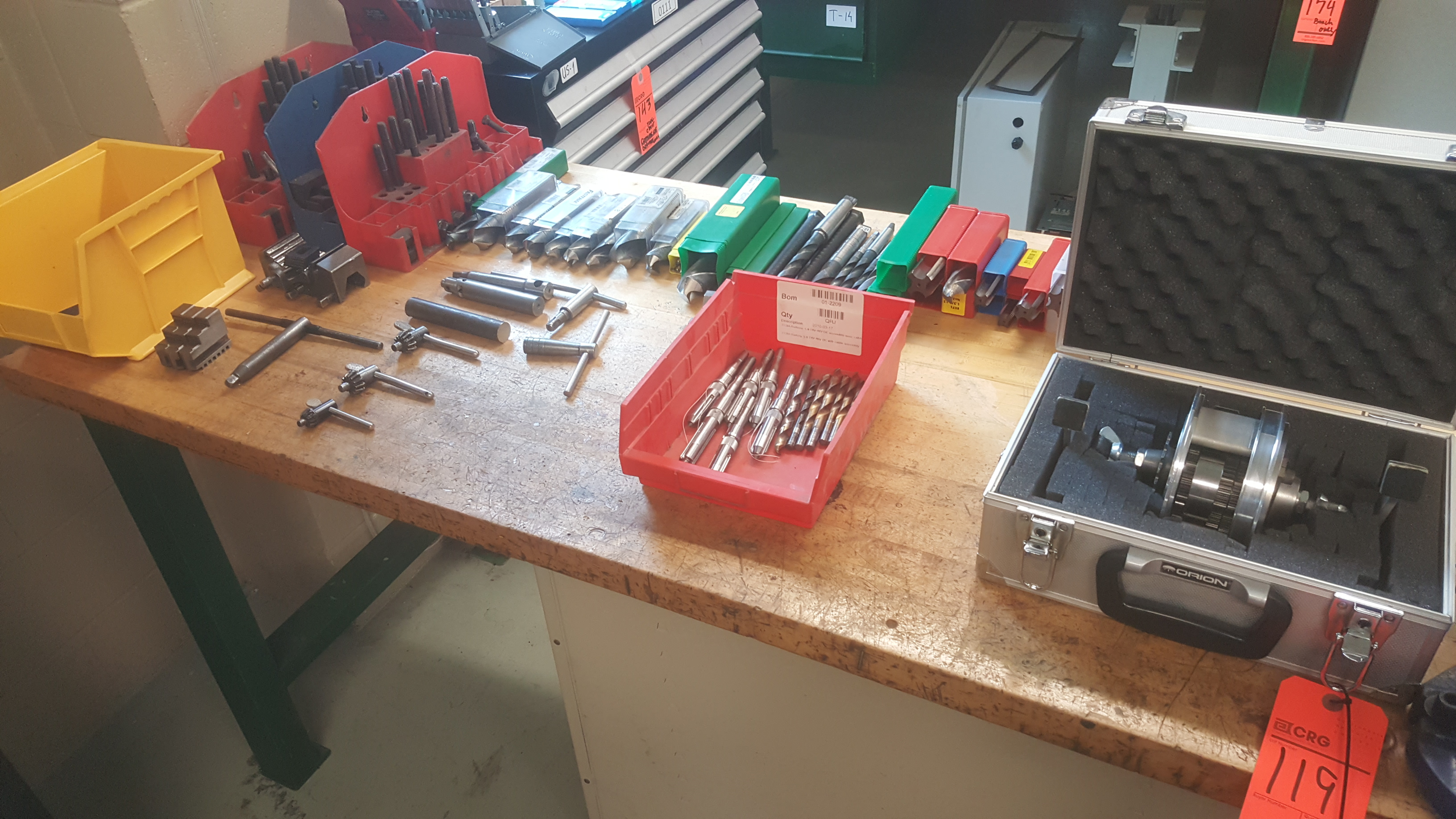 Lot 119 - (12) Sets of assorted drill bits including FASTENAL high-speed drill bits, carbide cutters, stamping