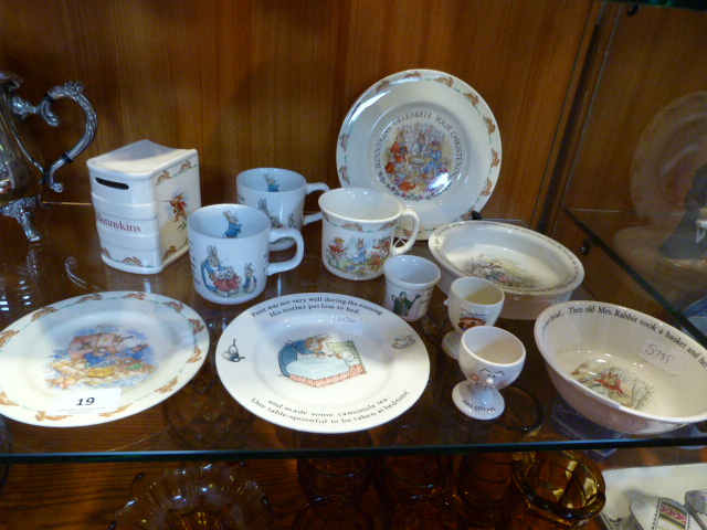 Lot 19 - Twelve Pieces of Assorted Pottery Including Bunnyk