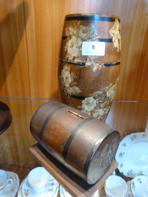 Lot 8 - Hennessy Decorative Barrel and Money Box