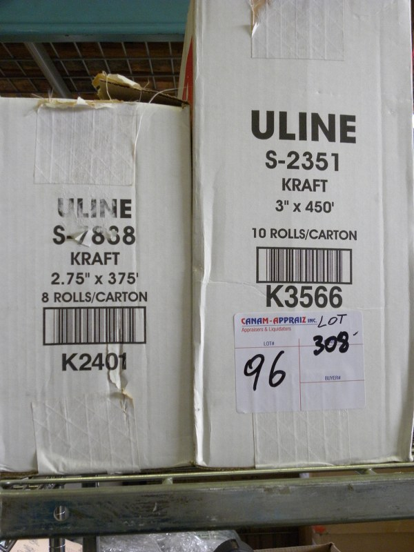LOT OF UNLINE ROLLS - ULINE S-2351, UNLINE S-7888