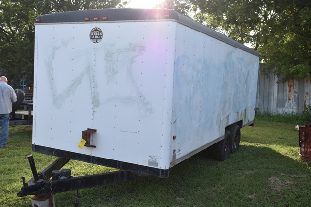 1995 WELLS CARGO ENCLOSED TRAILER, APPROX 8' X 20LG - Image 2 of 5