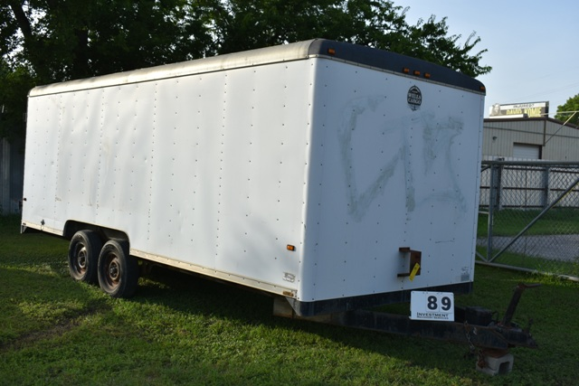 1995 WELLS CARGO ENCLOSED TRAILER, APPROX 8' X 20LG