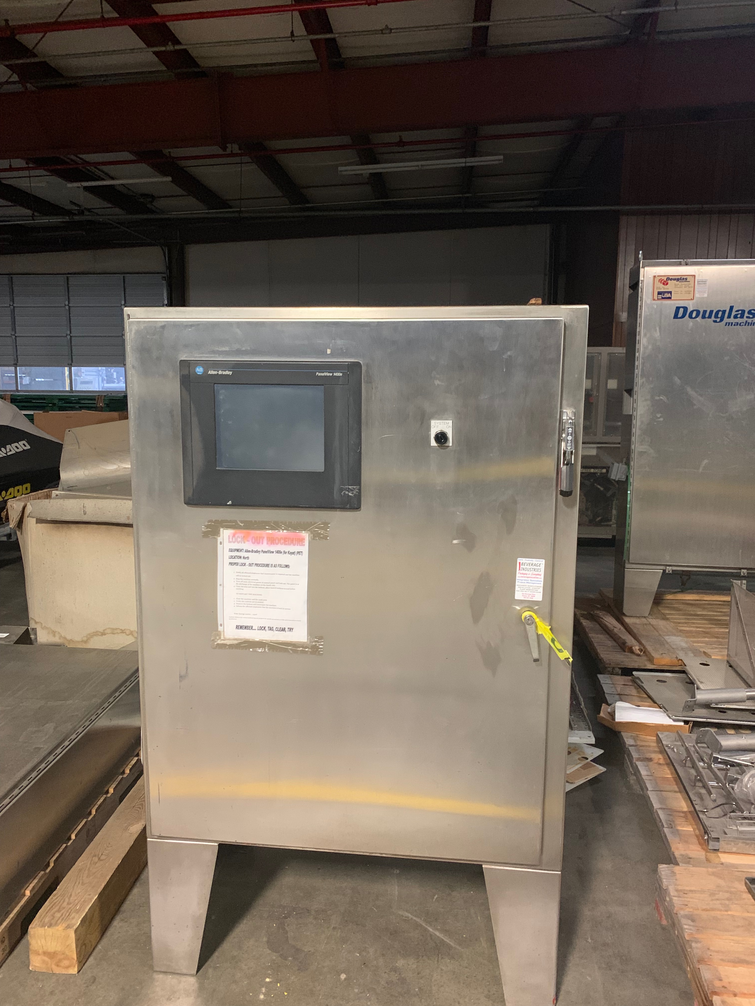 Lot 15A - Stainless Steel Control Panel with Allen Bradley Controls