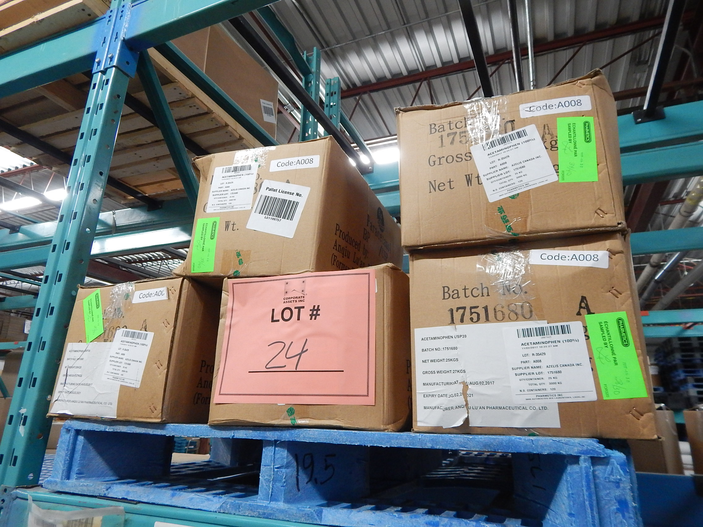 Lot 24 - LOT/ SKID WITH CONTENTS CONSISTING OF BOXES OF ACETOMINOPHEN