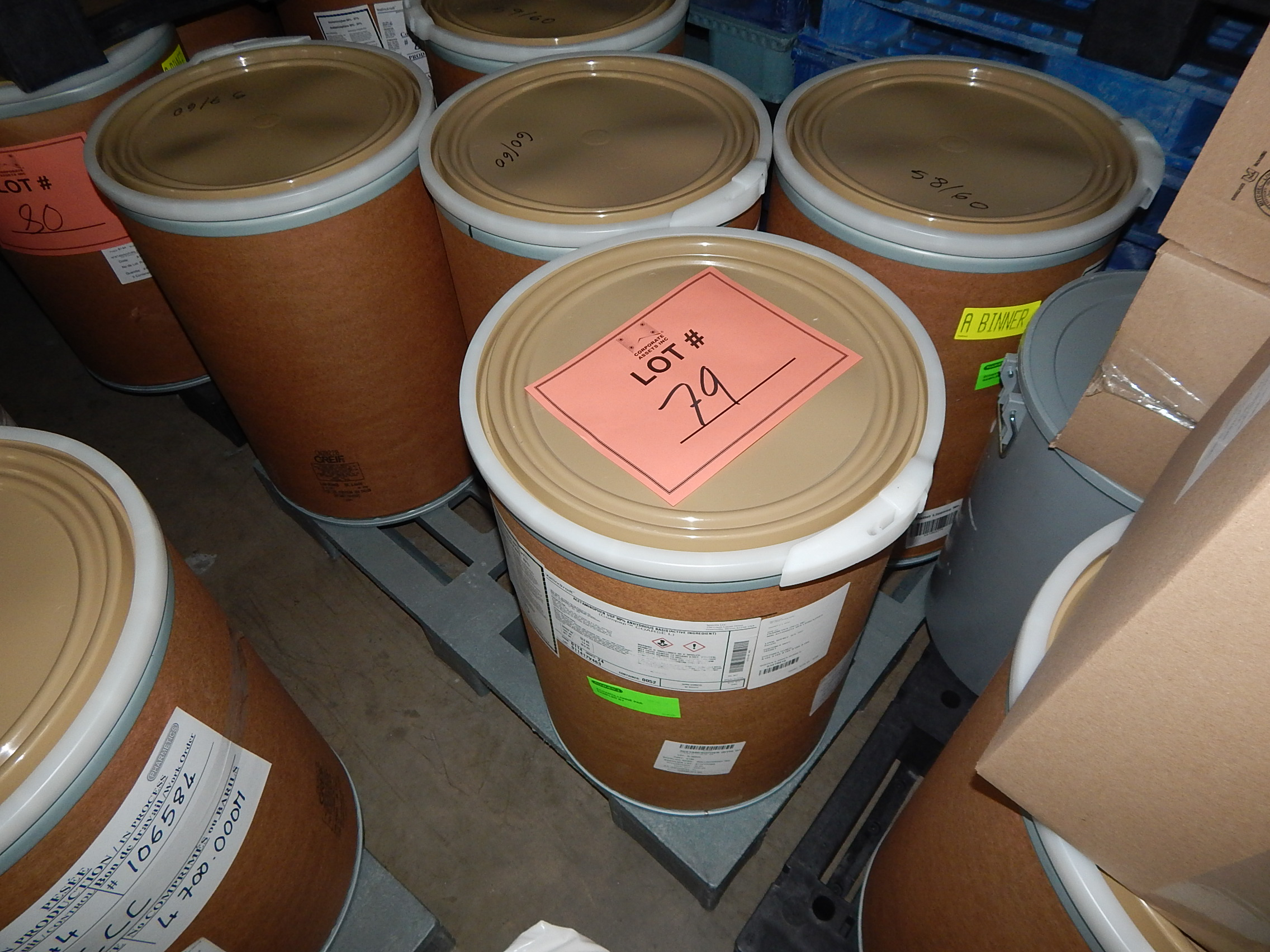 Lot 79 - LOT/ SKID WITH CONTENTS CONSISTING OF 50KG DRUMS OF ACETAMINOPHEN