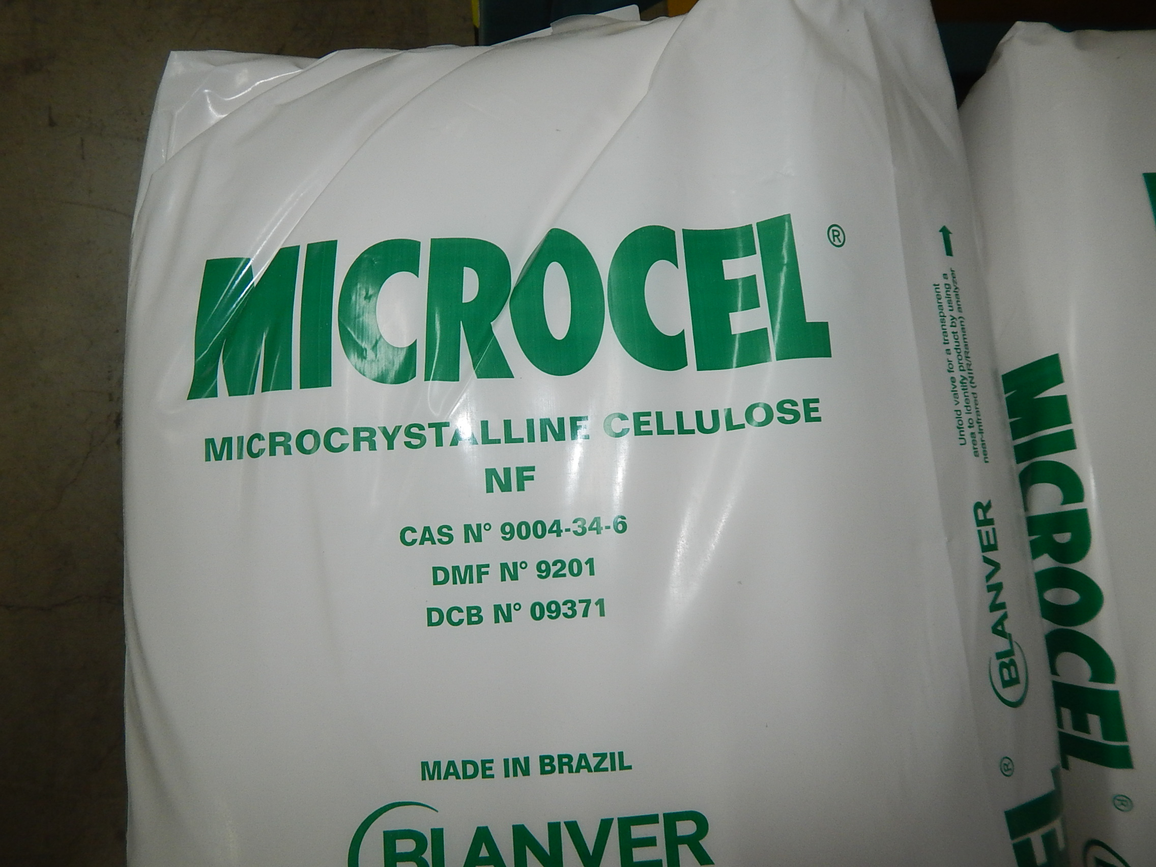 Lot 12 - LOT/ SKID WITH CONTENTS CONSISTING OF 33LBS BAGS OF MICROCEL MICROCRYSTALLINE CELLULOSE
