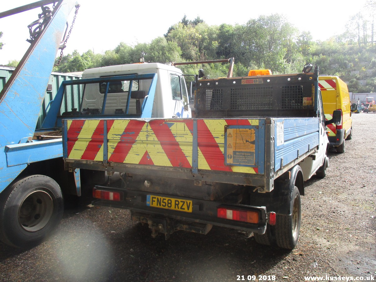 Lot 1503 - 2008 FORD TRANSIT DBL CAB TIPPER FN58RZN