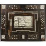 Lot 2397 - Met palissanderhout gefineerd paneel (deur kunstkabinet), 17e eeuw, met ivoren gegraveerde