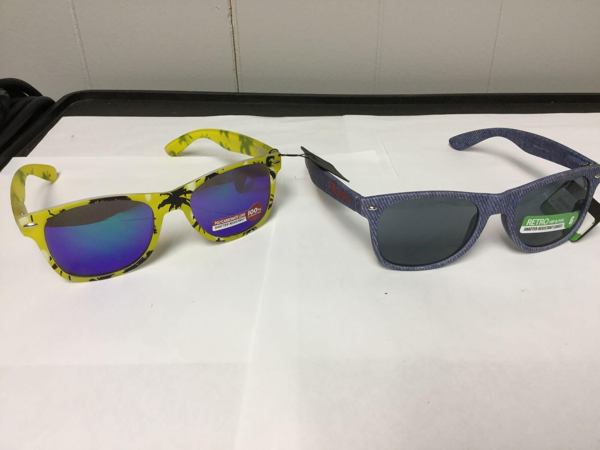Lot 36 - Lot of 2 Men's Retro Fashion Sunglasses