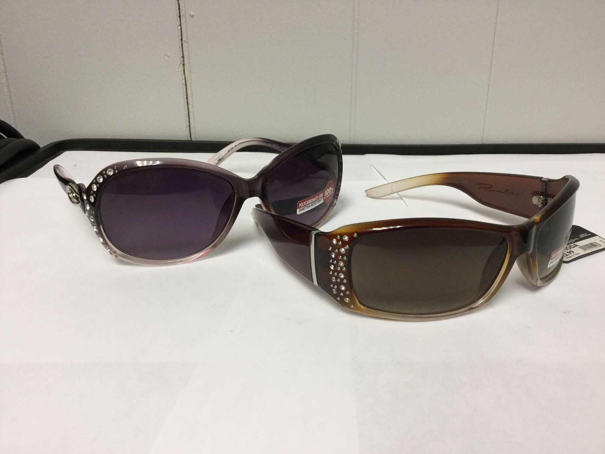 Lot 17 - Lot of 2 Women's Fashion Sunglasses