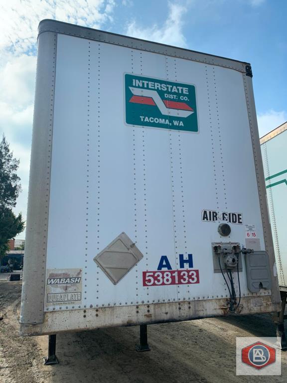 2002 Wabash DuraPlate Logistics 53 ft. Van Trailer