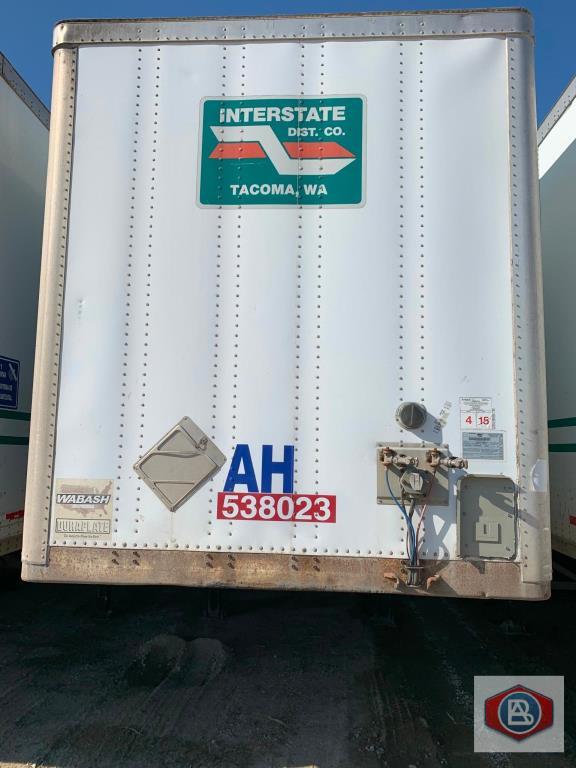 2002 Wabash 53 ft. DuraPlate Trailer Container