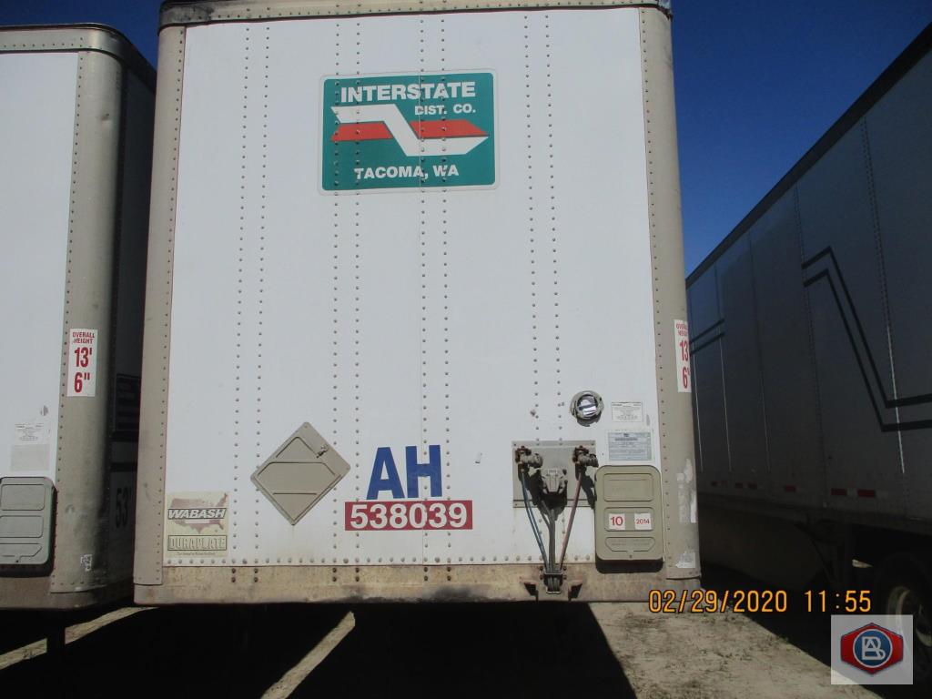 2002 Wabash DuraPlate Logistics Trailer 53 ft.