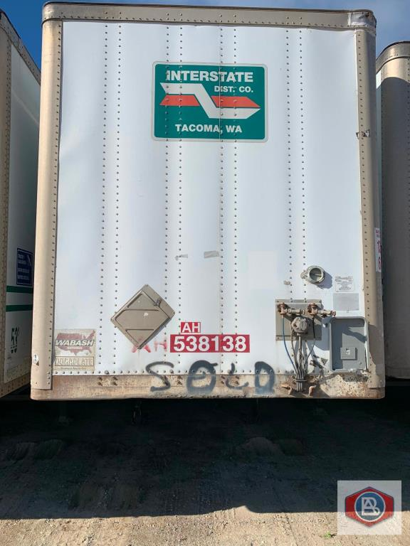 2002 Wabash DuraPlate Logistics 53ft. Van Trailer
