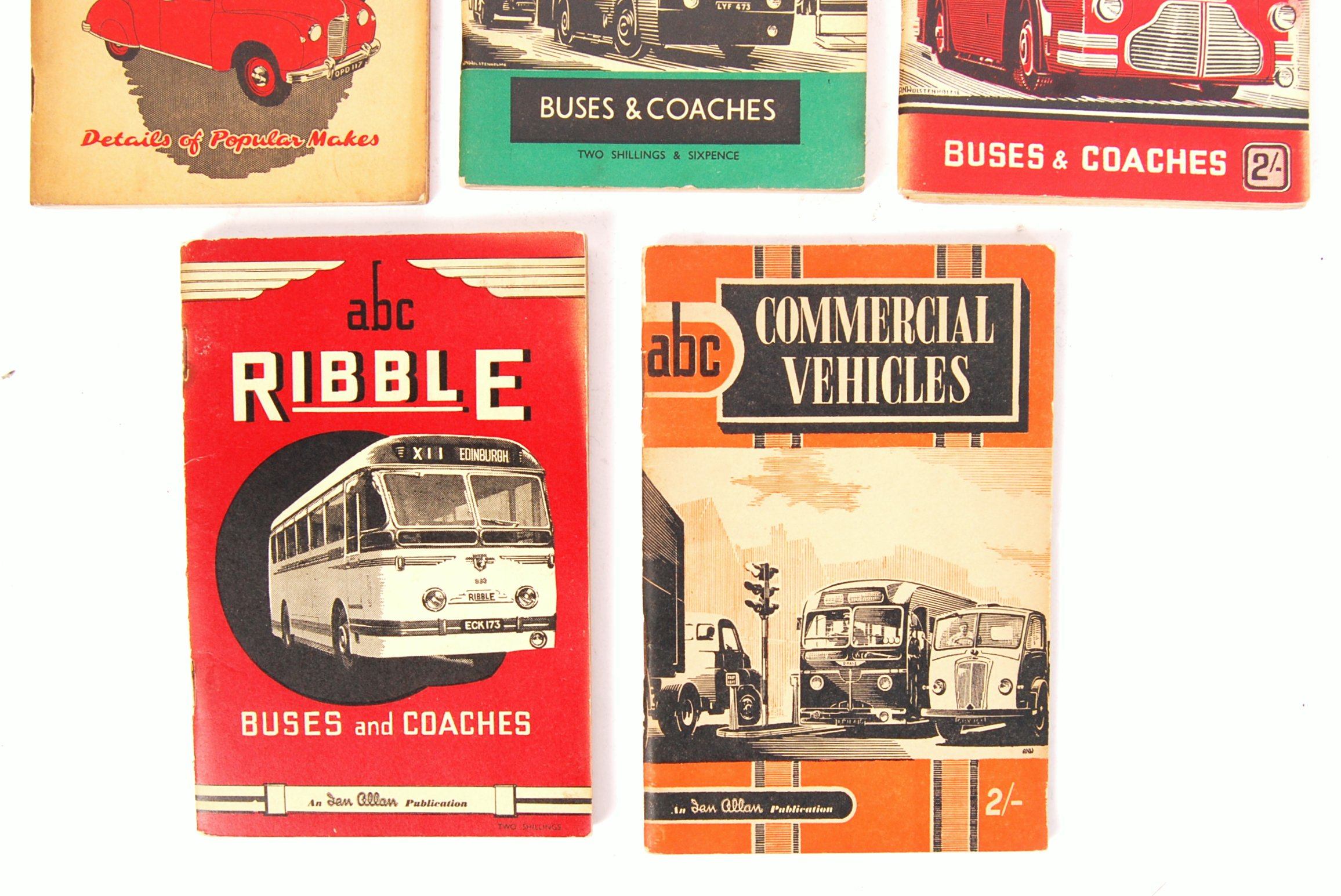 Lot 3 - COLLECTION OF 5X RARE UNUSED ABC VEHICLES RECOGNITION BOOKS