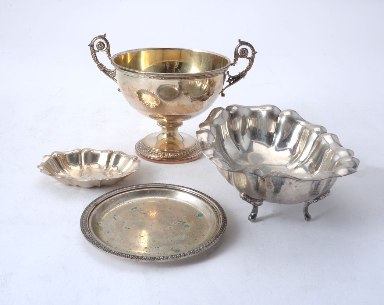 Four items of Italian silver
