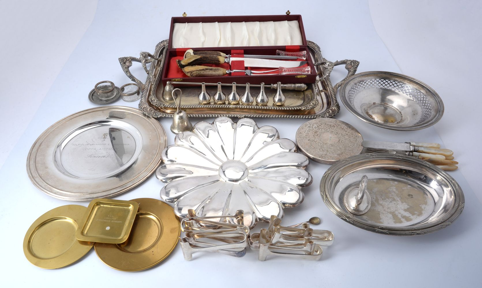 A collection of electro-plated wares