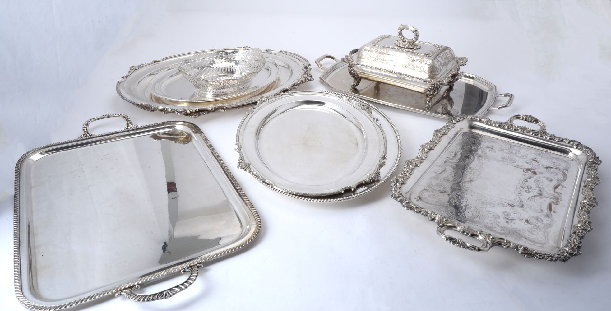A quantity of electro-plated wares