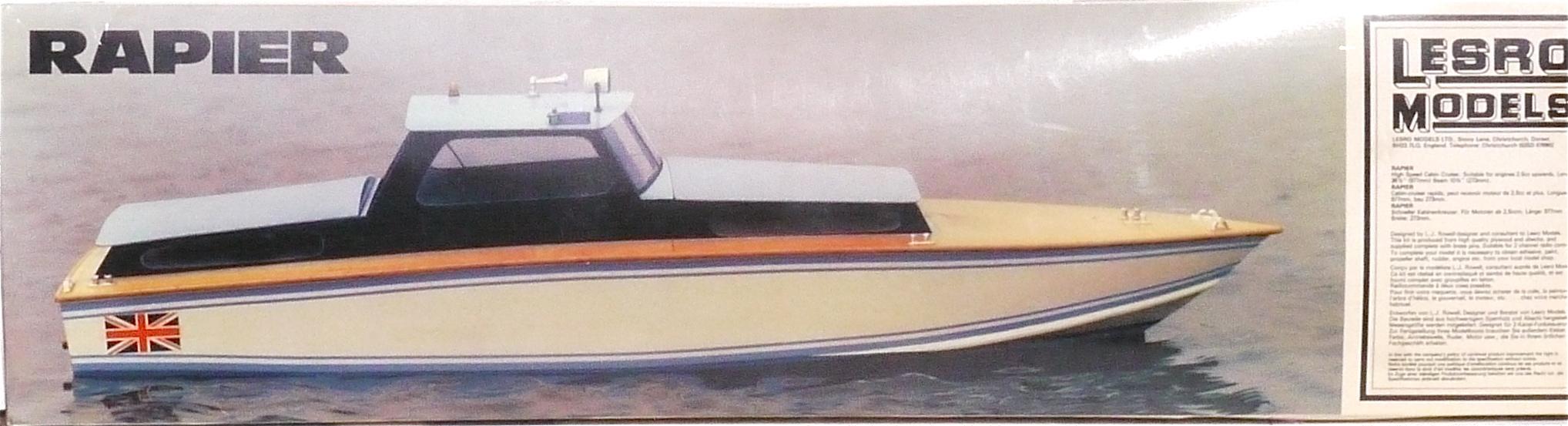 Lesro Models Rapier Cabin Cruiser Kit, including instructions and