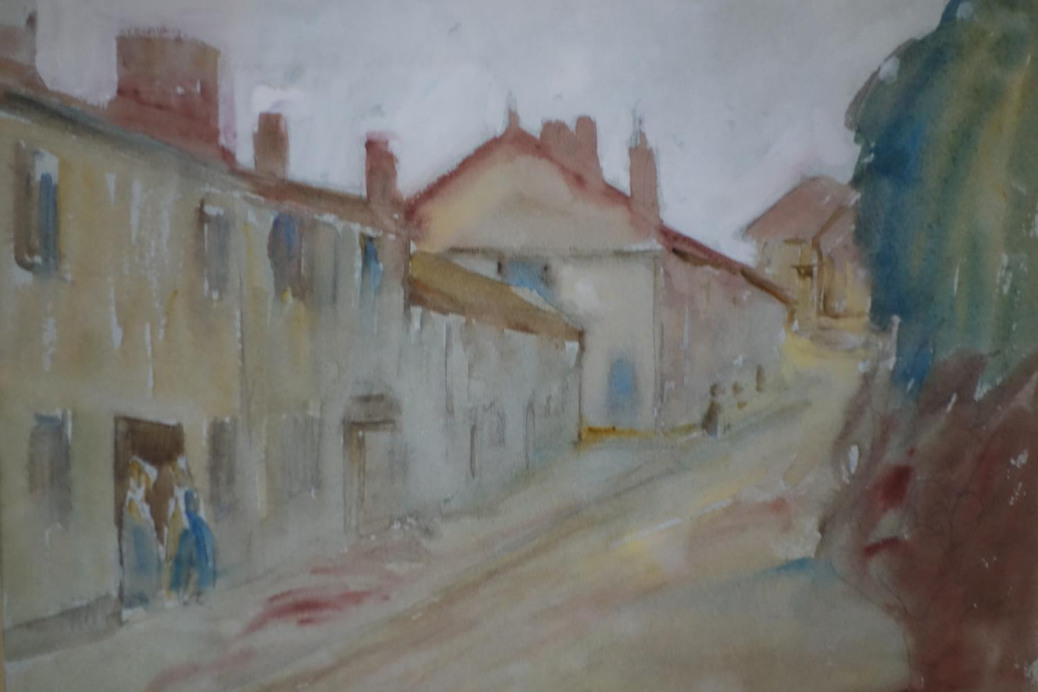 Marcus Arthur Boss (1891-1981), 'A Country Lane', watercolour, monogrammed and dated 1923 to lower - Image 3 of 3