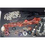 Five multicoloured extravaganza lady necklaces