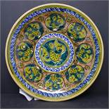 A Persian glazed ceramic plate decorated with birds each representing a human fault, inspired by The