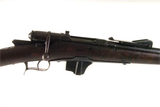 An 1884 Brescia bolt action rifle, marked NS 8684 to barrel and