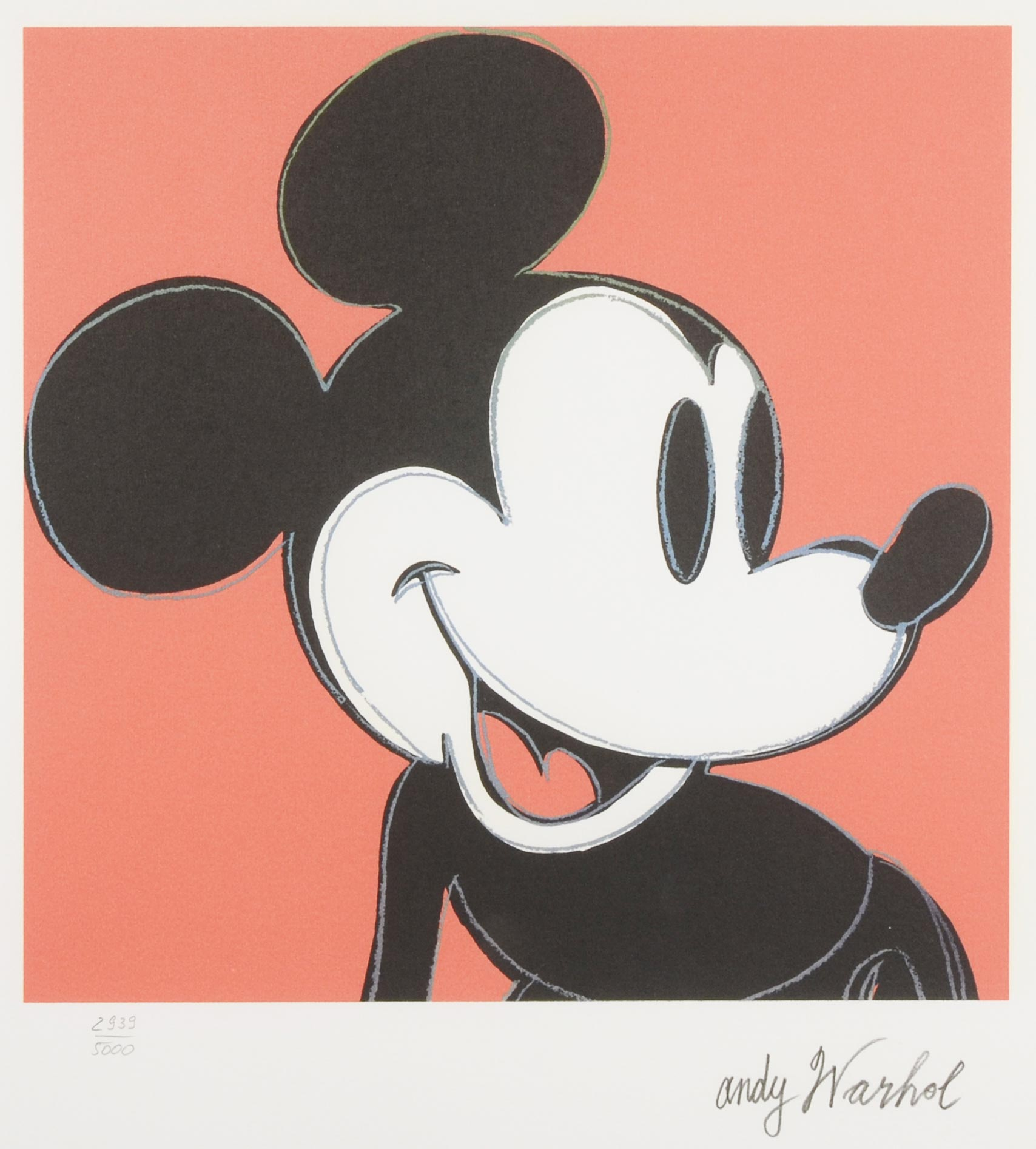 Pop art mickey mouse black and white