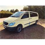 MERCEDES VITO 111 2.1 CDI TRAVELINER **9 SEATER** (2008 08 REG) 1 KEEPER FROM NEW